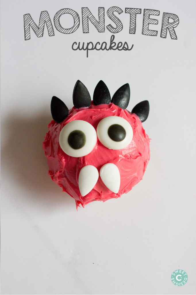 Monster cupcakes- these are the cutest treats you can make with your kids!