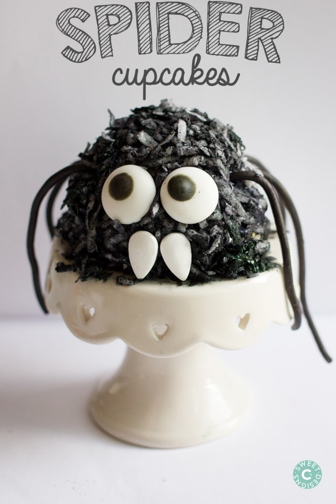 These hairy spider cupcakes are amazing- and kids can make them!