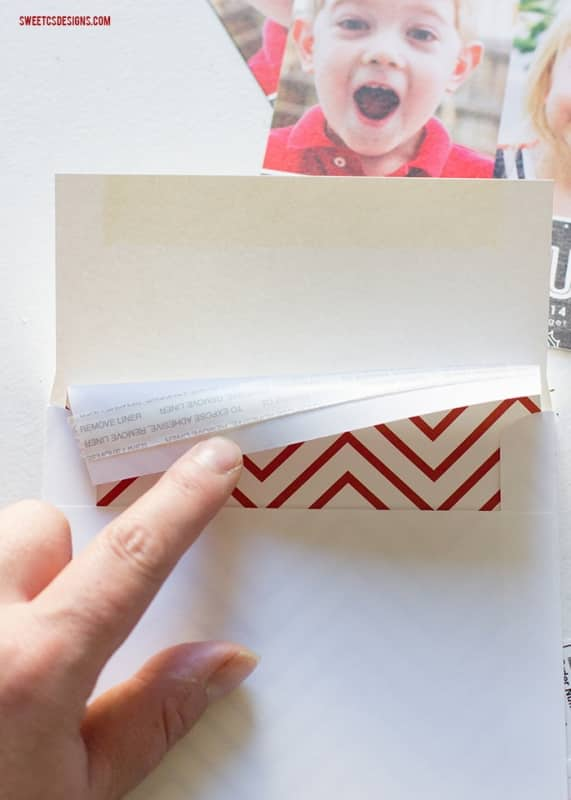 easy christmas cards with tiny prints