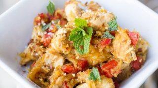 Paleo Thai Mint Chicken Stir Fry