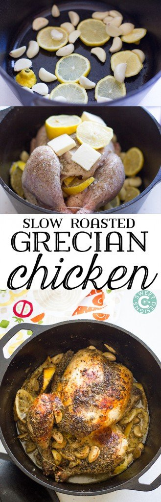 slow roasted grecian chicken- a delicious and easy way to make the most flavorful chicken ever!