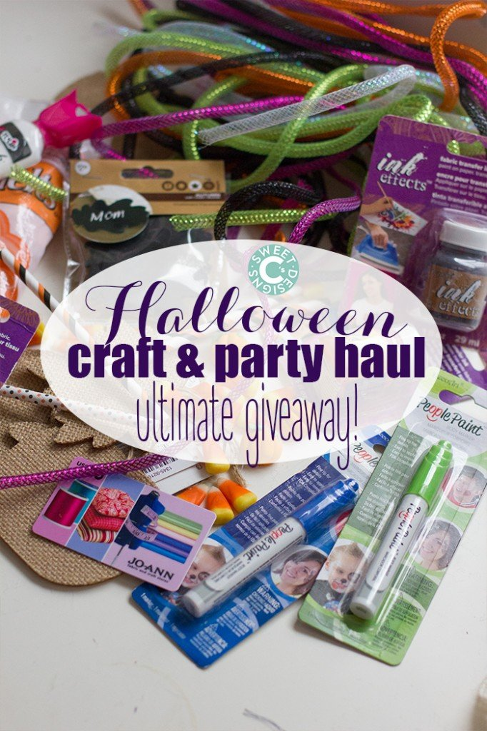 win over 50 dollars worth of awesome halloween craft and party supplies!