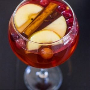 Cranberry Apple Christmas Sangria and Virgin Sangria