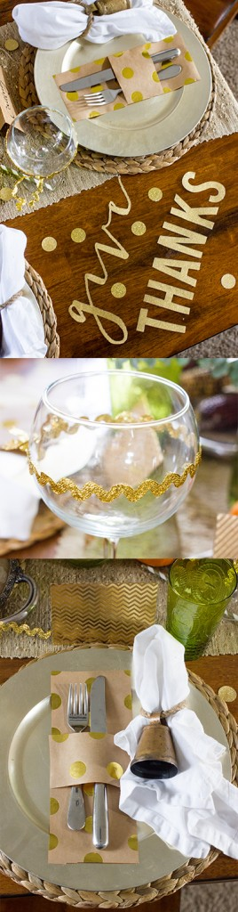 Easy last minute ways to dress up yout thanksgiving table decor!
