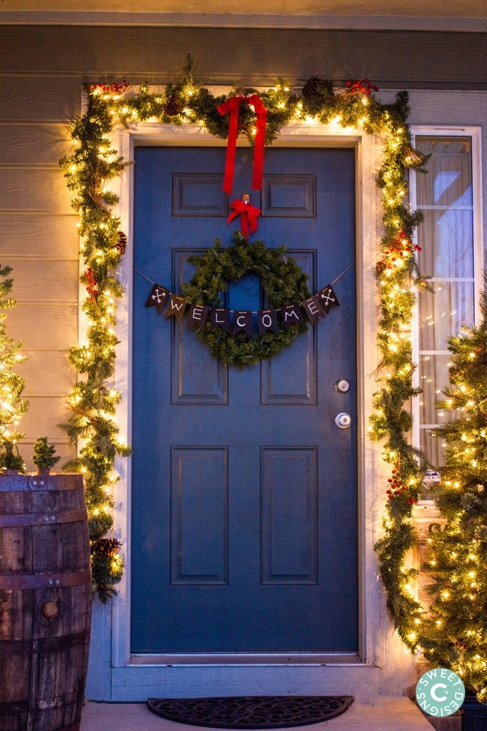 Adorable Christmas door decor
