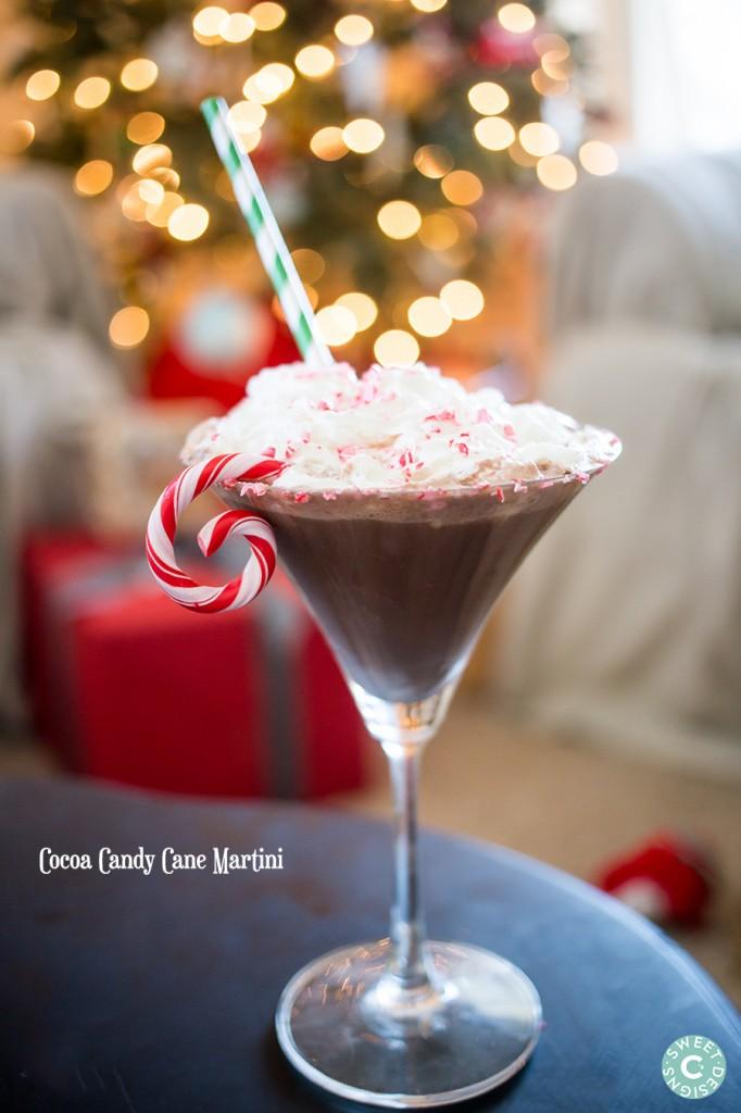 Cocoa Candy Cane Martini