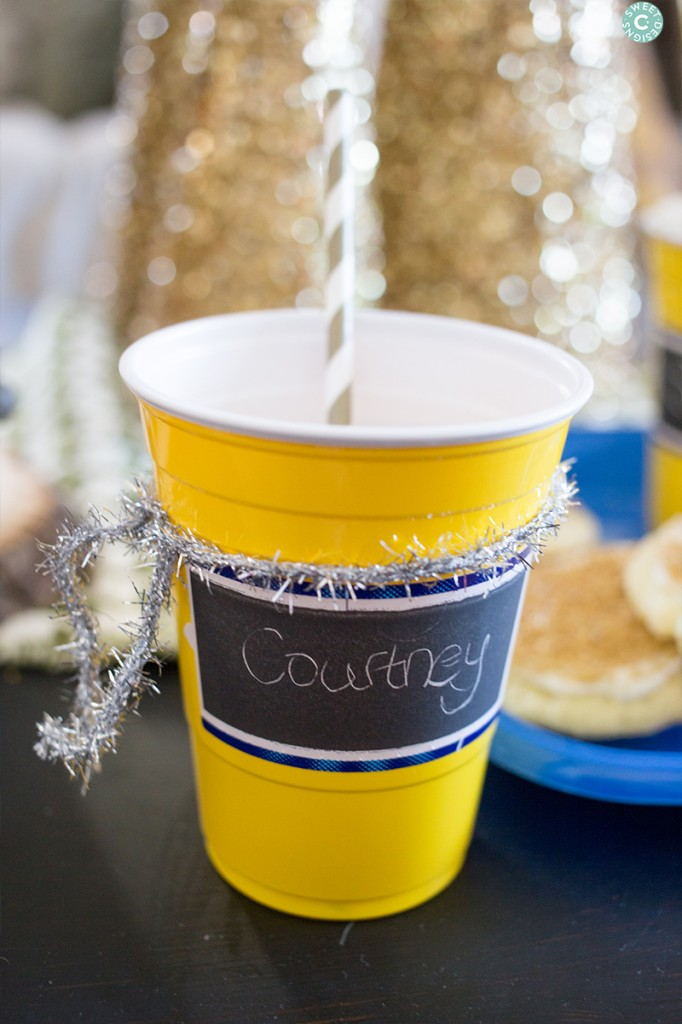 Love these customizeable cups- just scratch your name in!