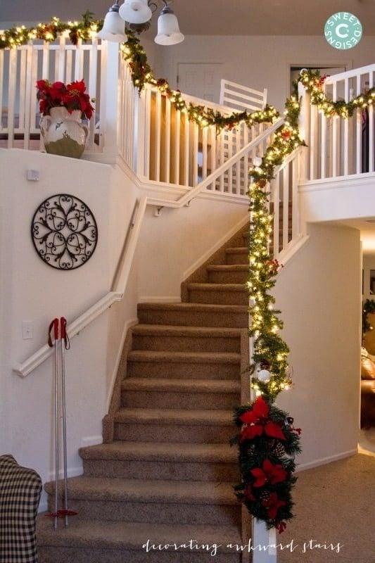 Christmas Home Tour- Staircase and Living Room