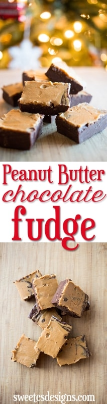 peanut butter chocolate fudge- delicious, quick and easy!