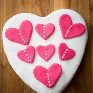 Easy Fondant Heart Cake