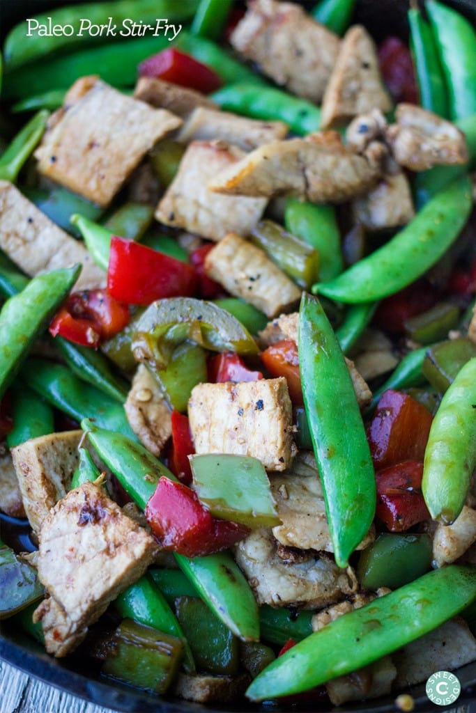 One Pot Paleo Pork Stir Fry- yum!