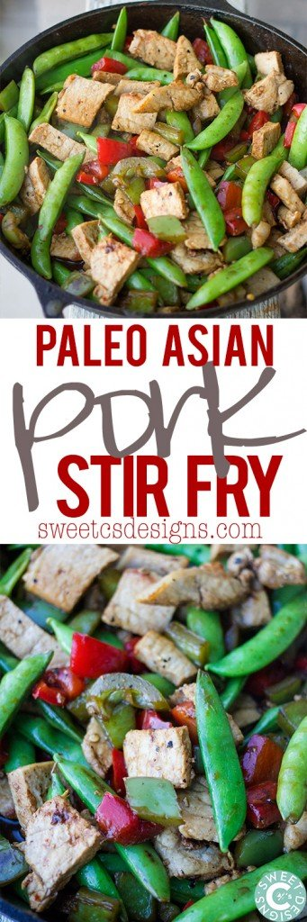 Paleo Asian Pork Stir Fry- so delicious, easy, and just one pot!