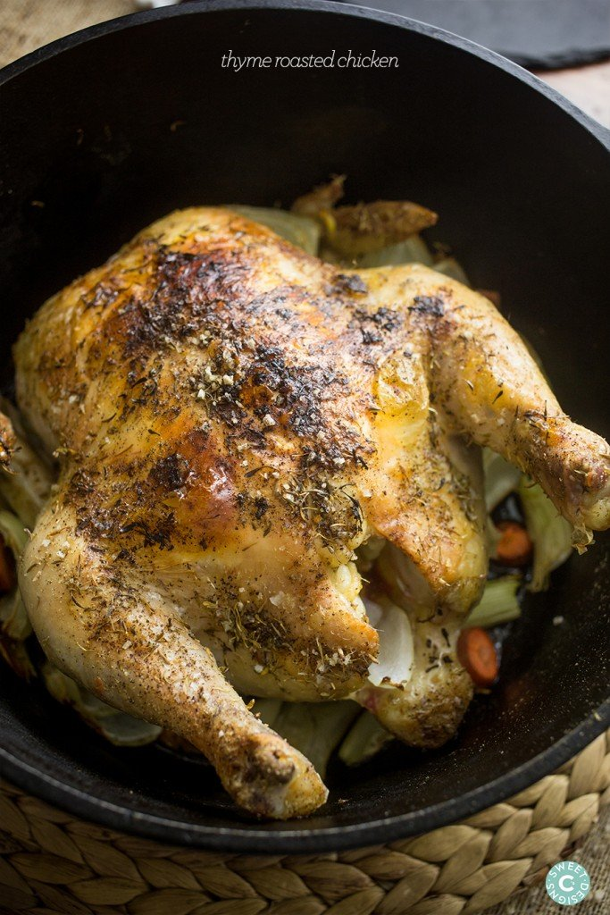 This delicious roasted chicken is simple and so easy to make- its our favorite comforting meal!