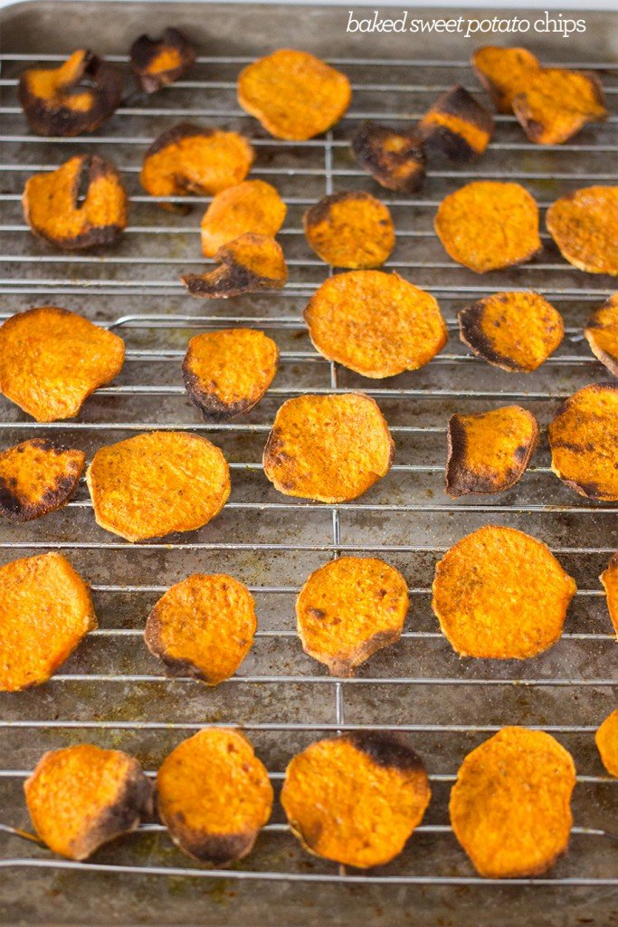 baked sweet potato chips- these are so easy and delicious!