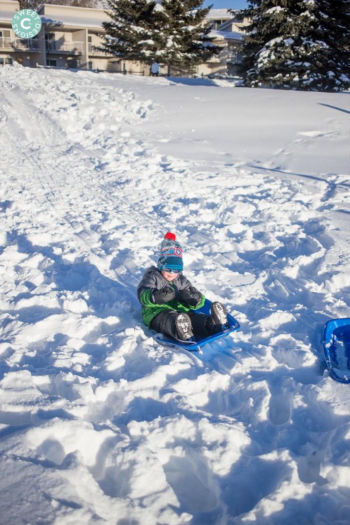 sledding in avon colorado