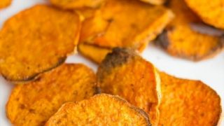 Easy Baked Sweet Potato Chips