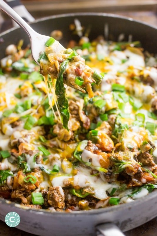 Cheesy Taco Skillet- a delicious, family ready one pot meal!