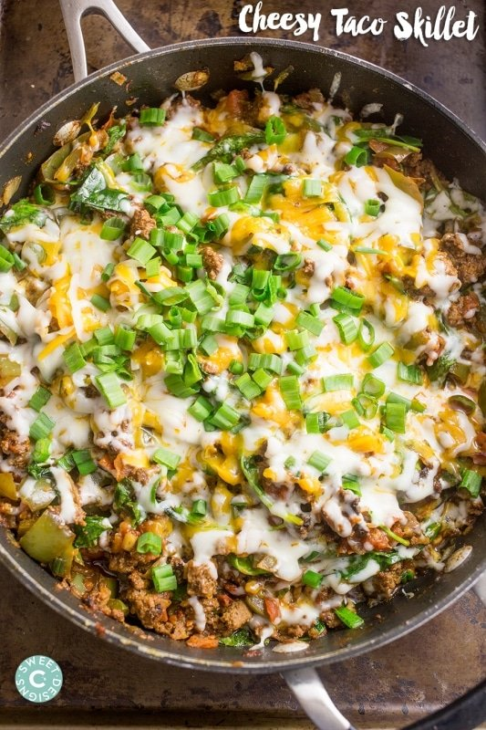 Cheesy taco skillets- this recipe is our family's favorite!