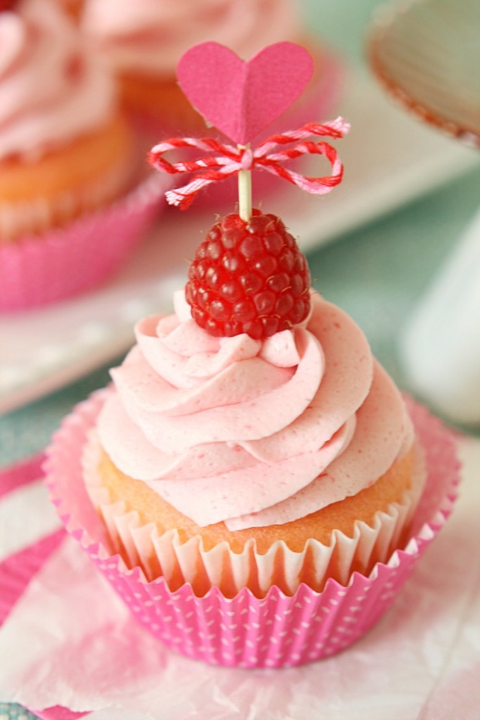 Pink Velvet Raspberry Cupcakes 3