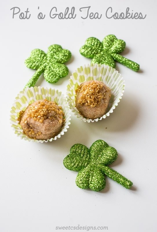 Leprechaun Pot 'O Gold Tea Cookies