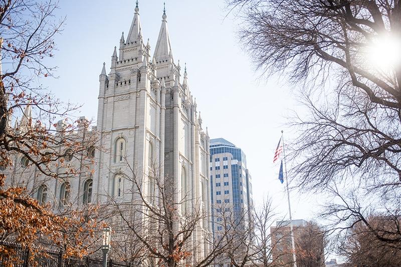 Salt Lake City Temple Square View