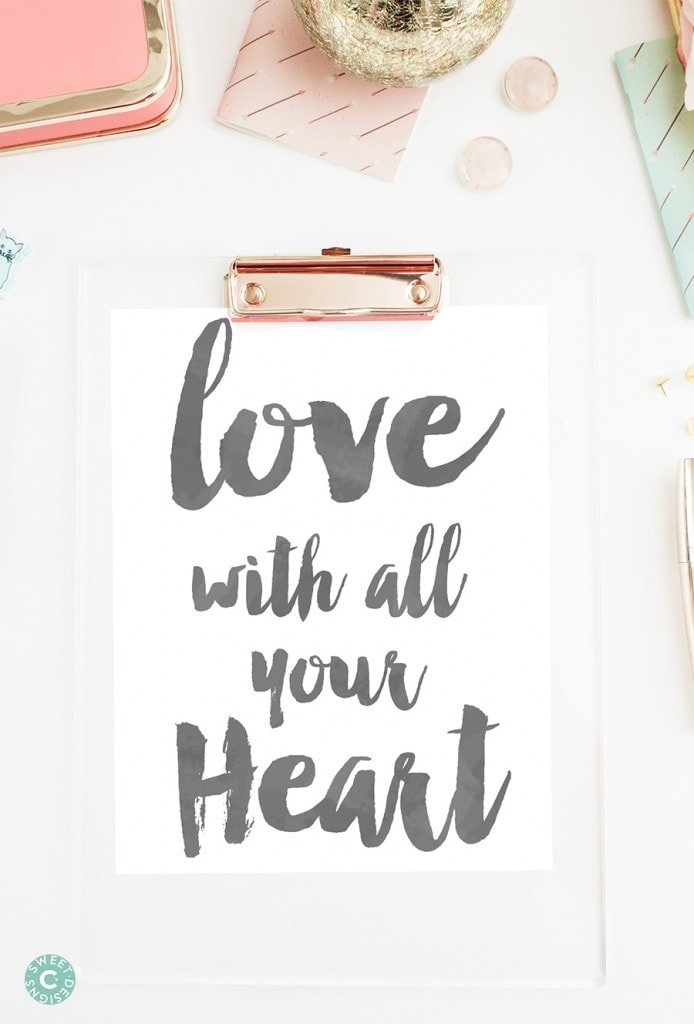 These watercolor printables are so cute- perfect for valentines day!