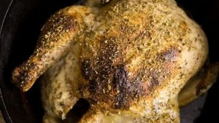 Dutch Oven Lemon Greek Yogurt Roasted Chicken