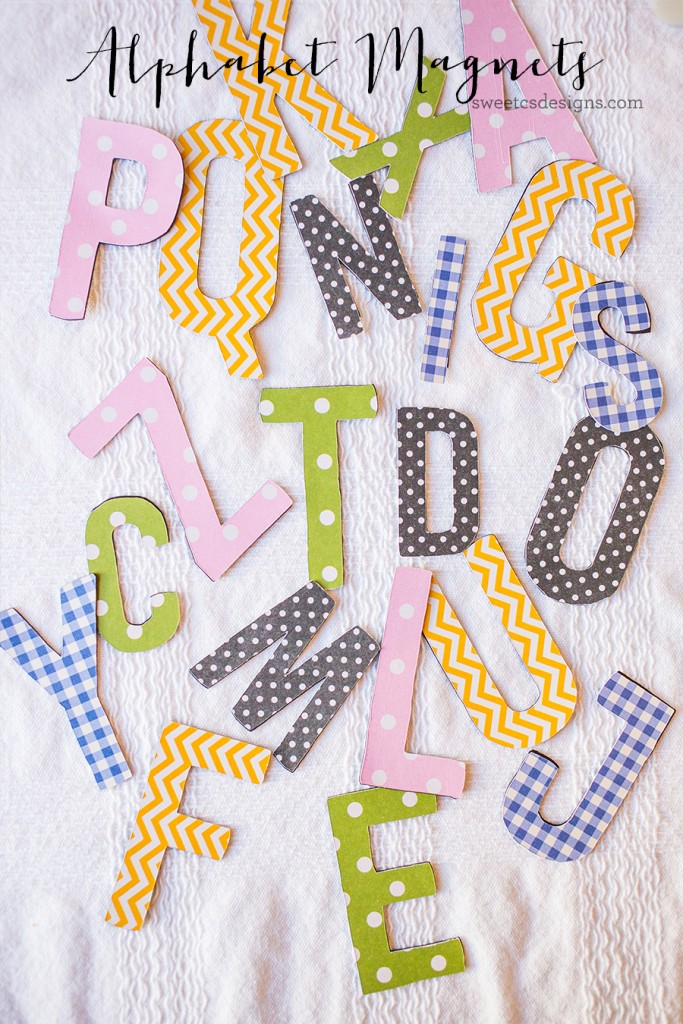 Adorable spring alphabet magnets- this easy DIY is so much fun for kids!