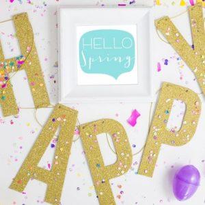 Hello Easter Hello Spring Card Printables + Printable Vignette Hop!