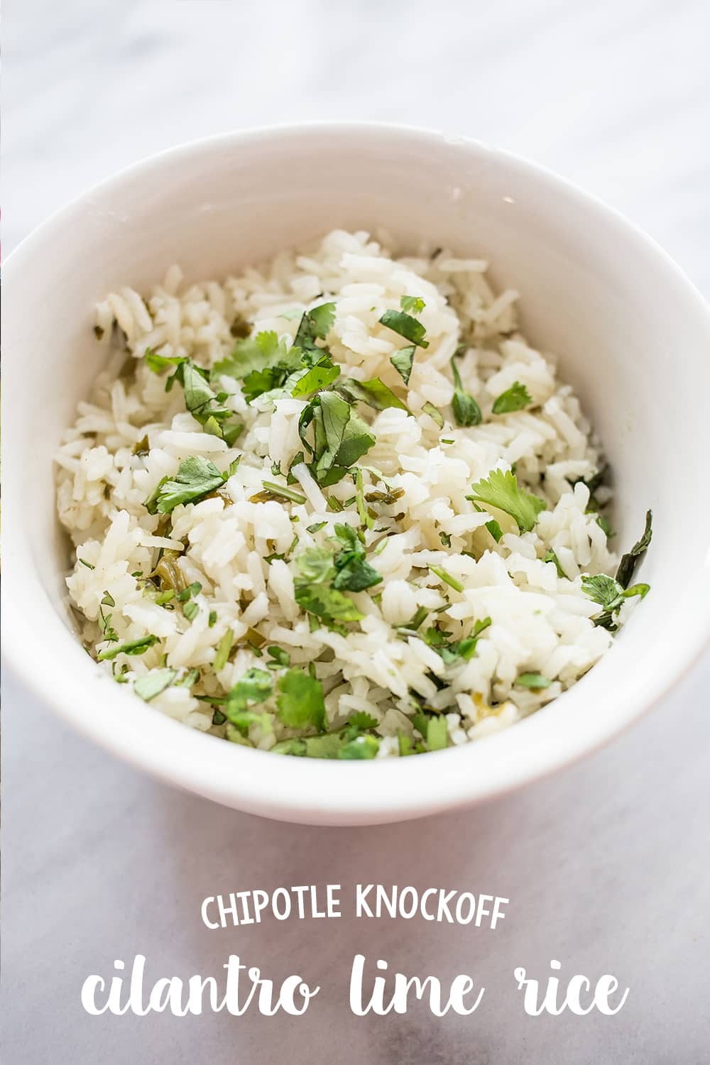 Knockoff chipotle cilantro lime rice- this is the easiest, most delicious recipe ever!