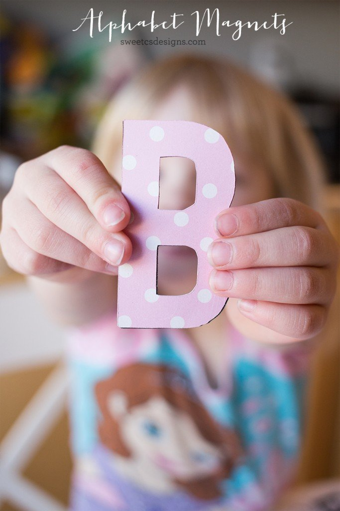 These DIY alphabet magnets are a fun DIY you can do with your kids!