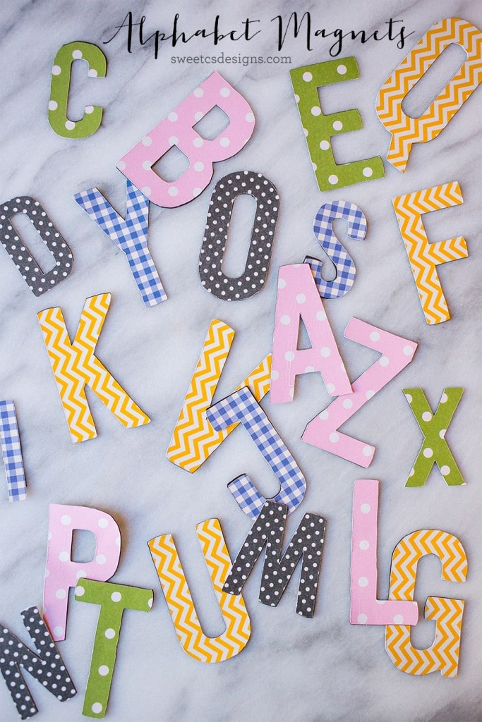 These fun alphabet magnets are quick and easy to make- and so much cuter than standard kids magnets!