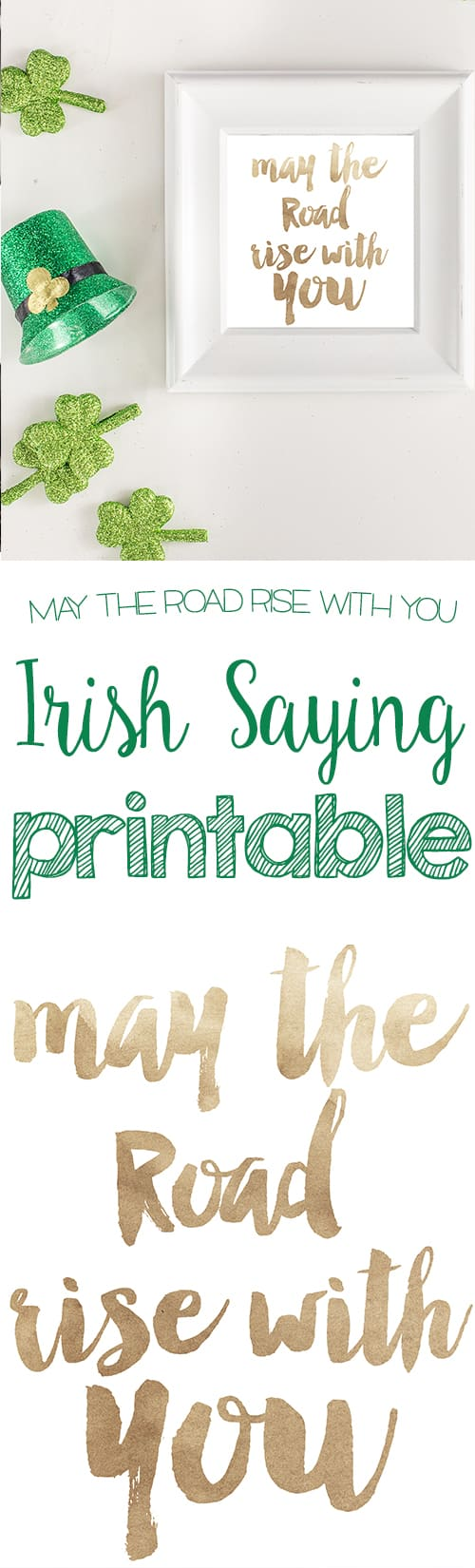 This Irish saying printable is cute year round- or for st patricks day!