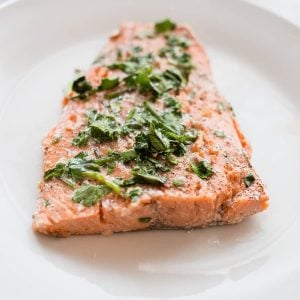 This delicious cilantro lime salmon cooks in just 10 minutes and is so flavorful!