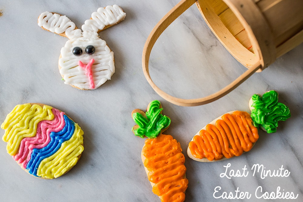 Cute and so easy- these last minute Easter cookies are the best!