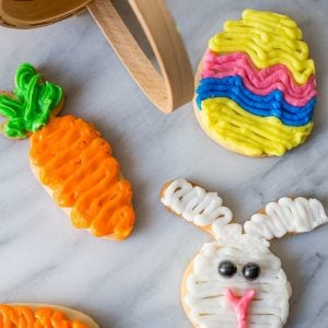 Last Minute Easy Easter Egg Cookies
