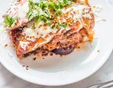 Slow Cooker Eggplant Lasagne