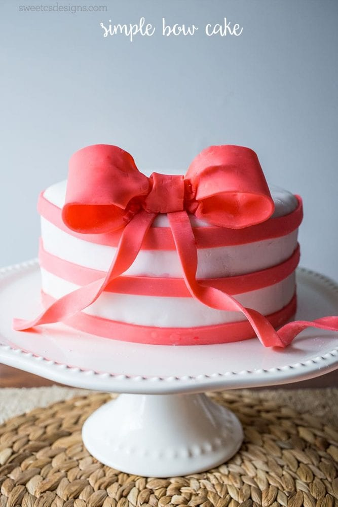Simple Bow Amp Flower Cake With Craftsy And Jo Ann Fabric And Craft Stores Sweet Cs Designs
