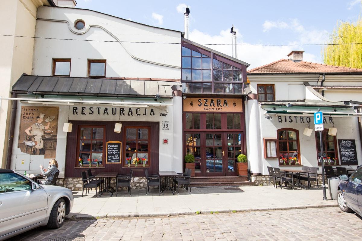 Cafe in Krakows Jewish District
