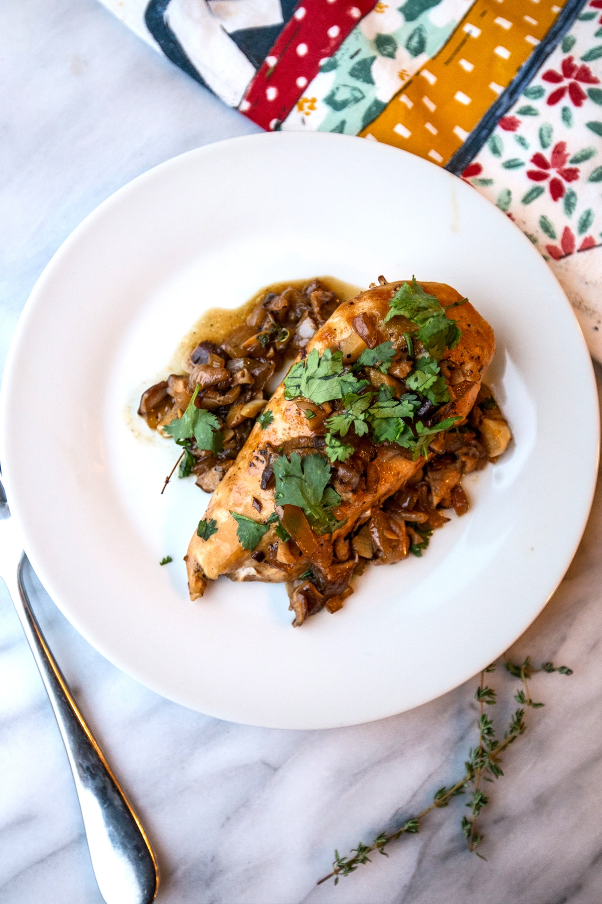 Delicious and easy Chicken in caramelized onion sauce- so quick and good!