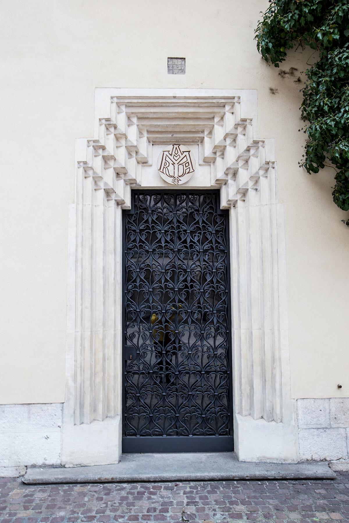Doorway in Wawel Castle Courtyard, Krakow