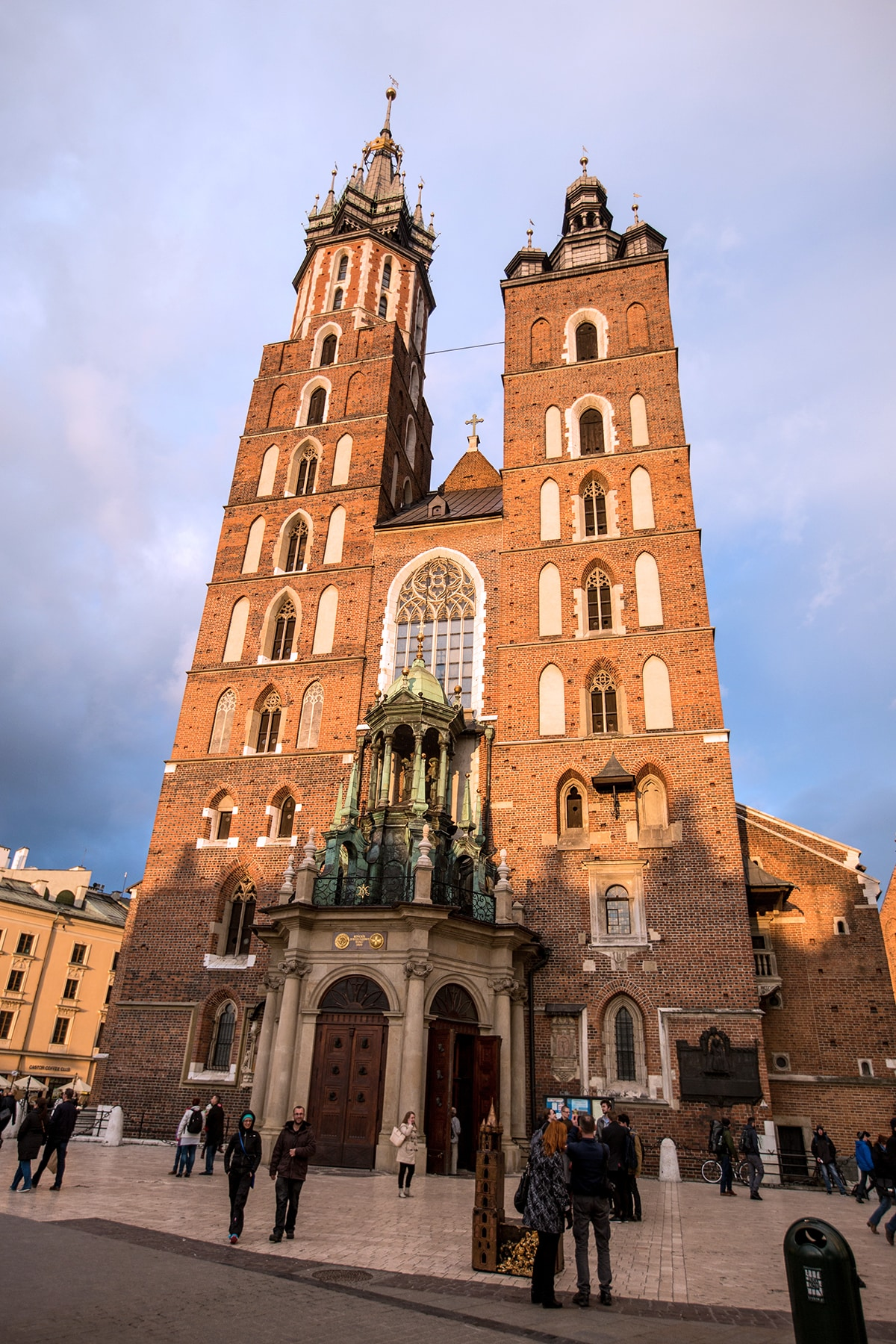 Saint Marys Basilica Krakow- every hour on the hour a trumpeter pops out a window and plays!