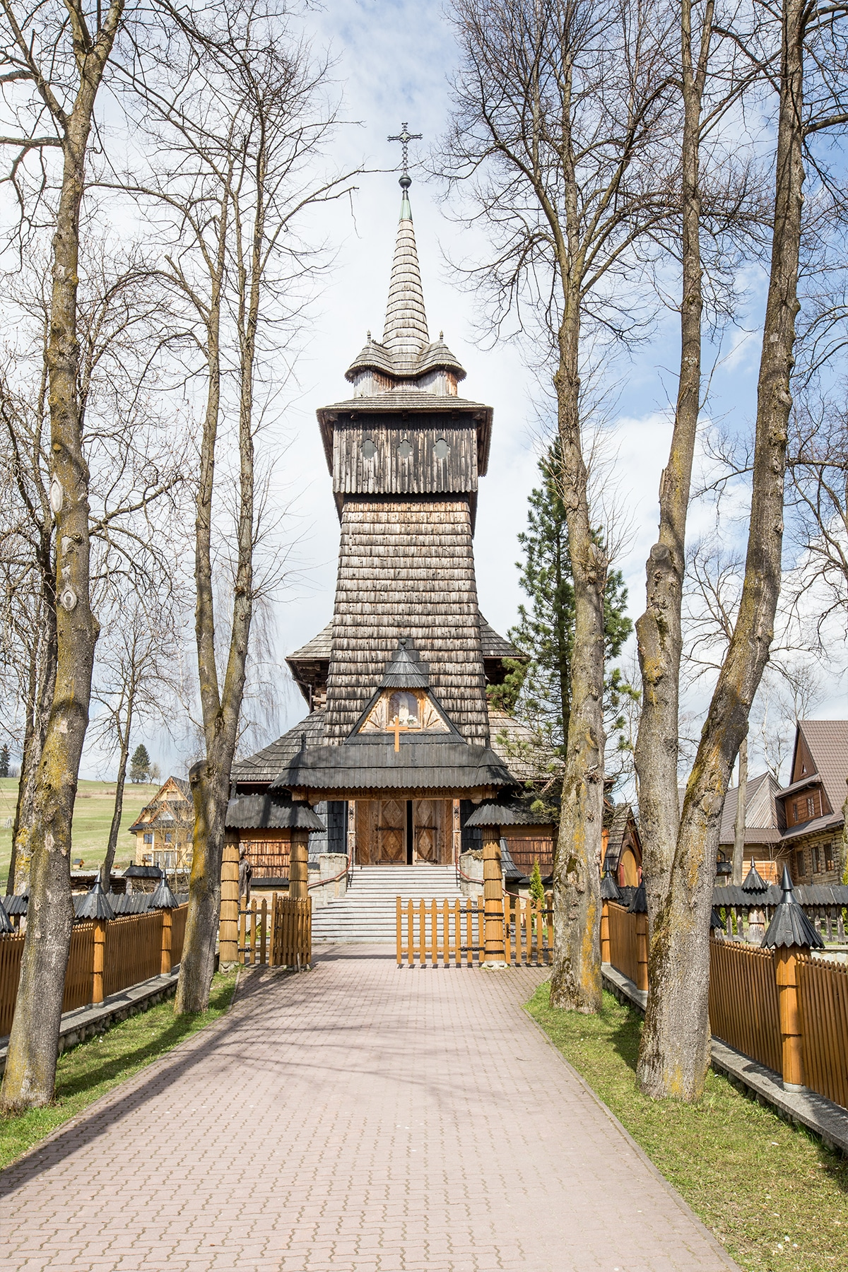 Wooden town outside of Zakopane Poland- this church is so cute!
