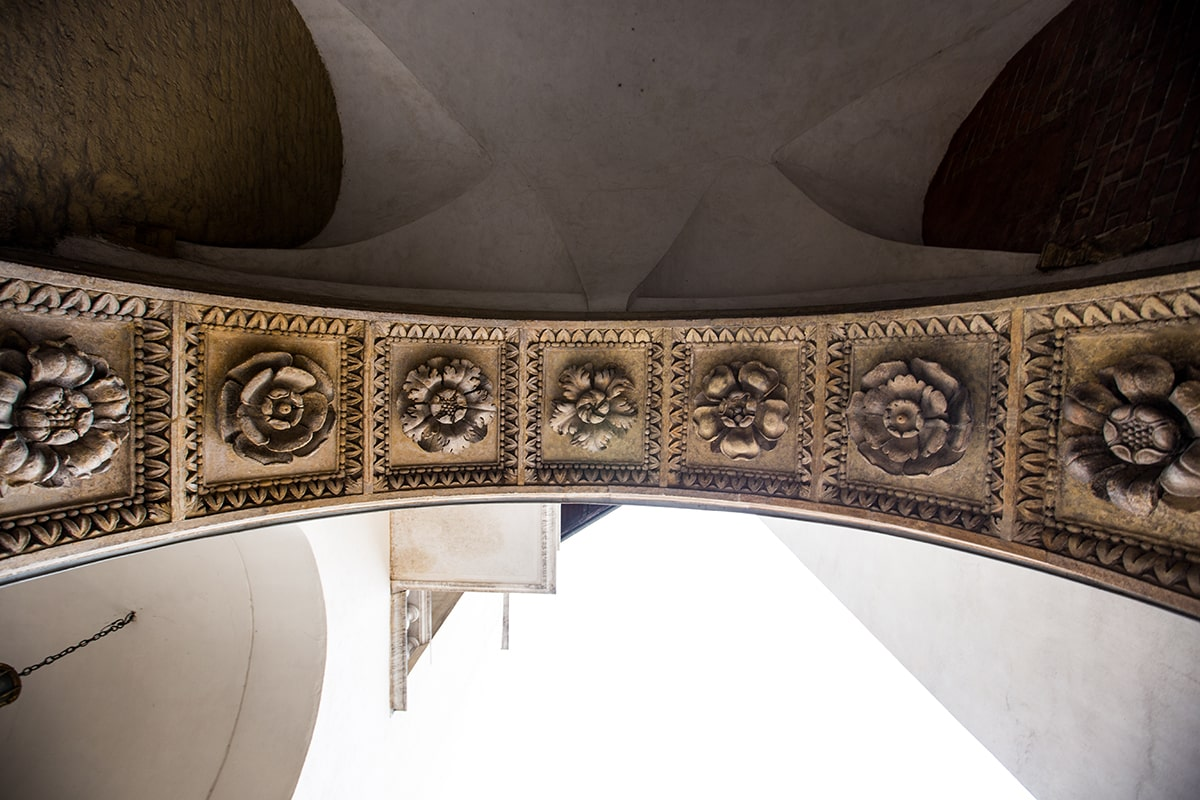 detailing on an archway at Wawel Castle in Krakow