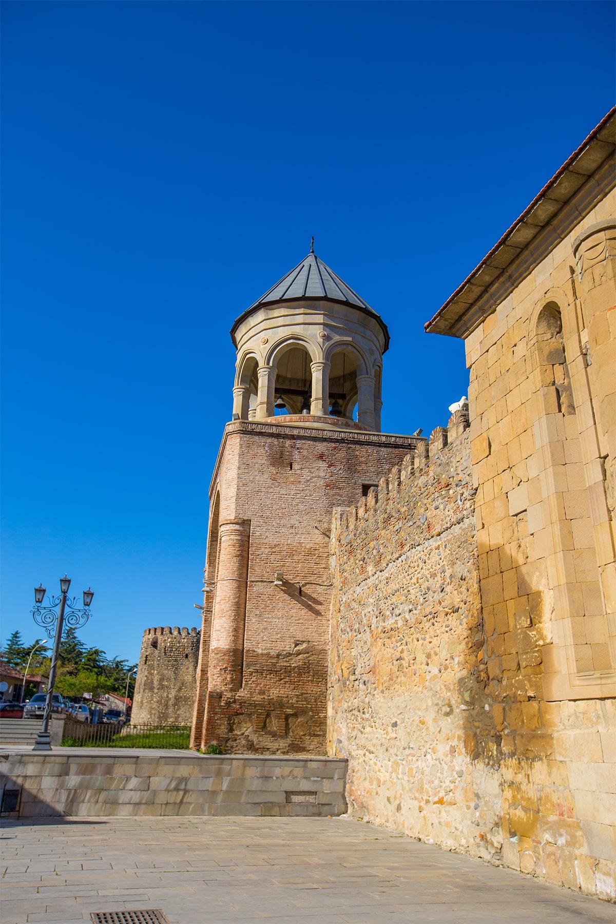 Cathedral walls in Mtskheta Georgia