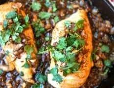 Skillet Chicken with Mushroom and Onion Sauce