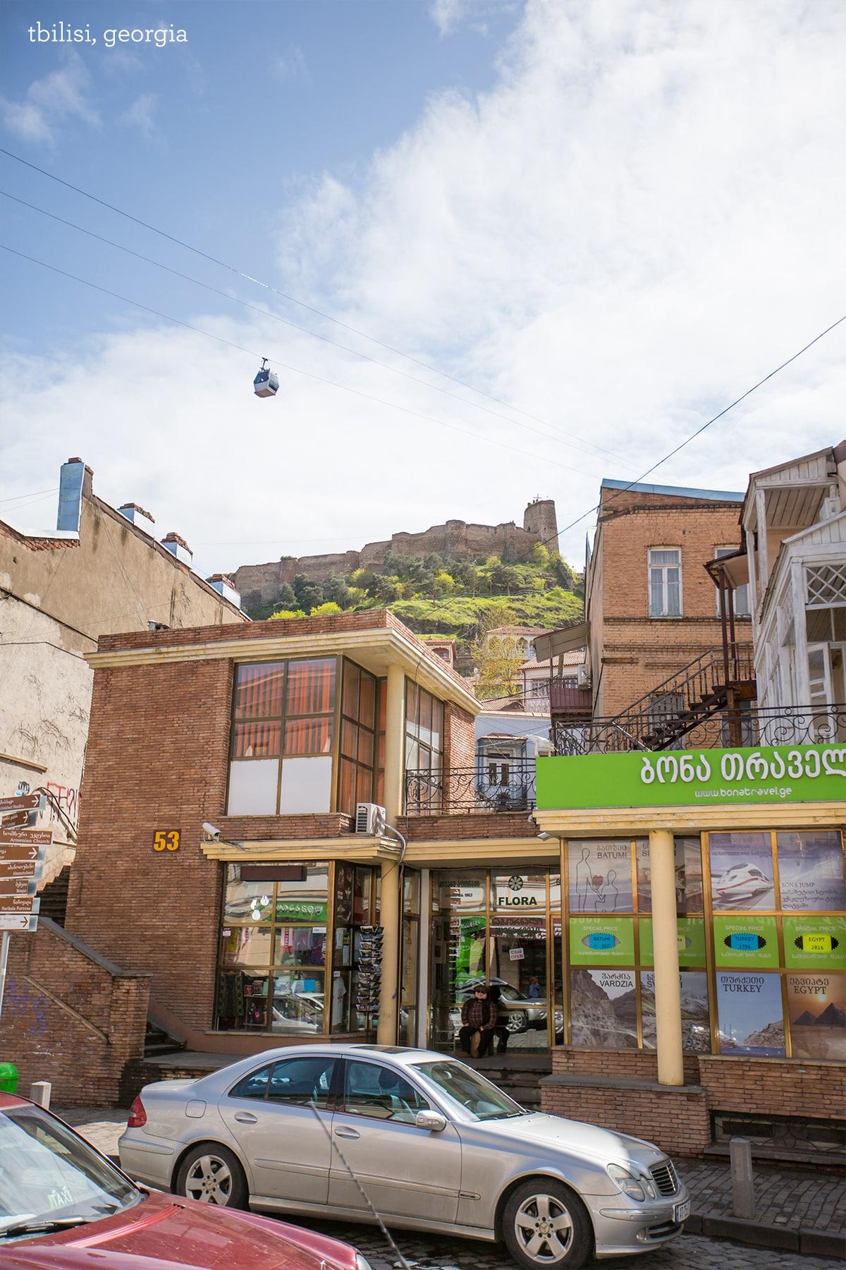 Narikala fortress above Tbilisi
