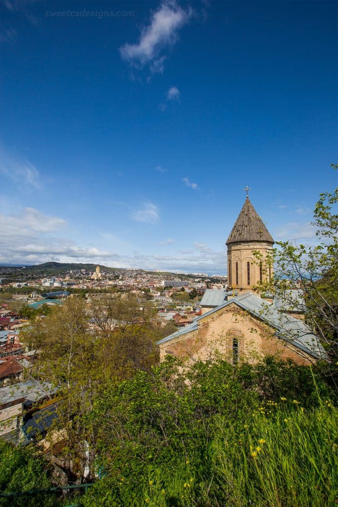Upper Bethlemem church and the Tbilisi skyline, Georgia copy
