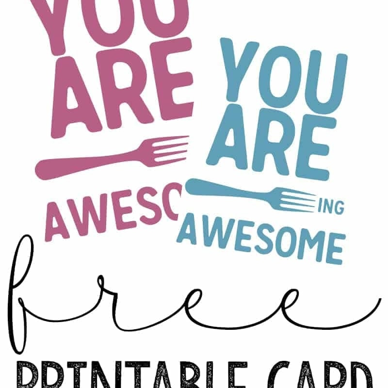 You Are Forking Awesome Printable