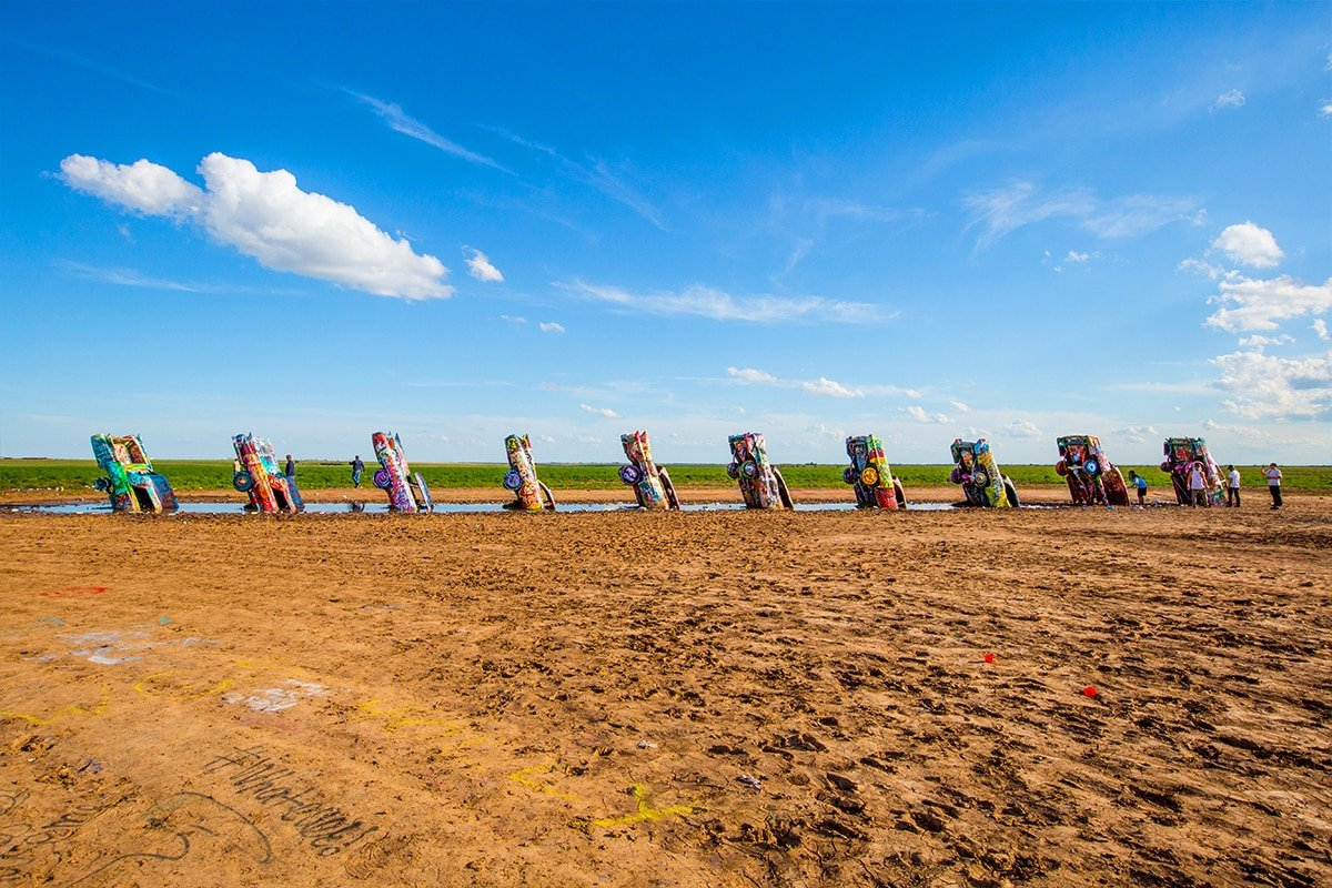 Cadillac Ranch art exhibit, outside Amarillo Texas